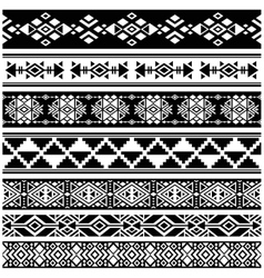 African and mexican aztec american tribal vector image