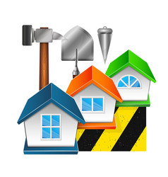 construction and repair of houses vector image vector image