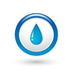 glossy water drop vector image