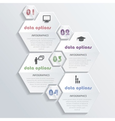 Modern infographics design with numbers vector image vector image