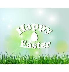 Nature background with grass for easter vector image vector image