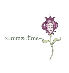 spring or summer background vector image vector image