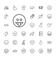 33 cute icons vector