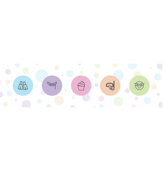 5 mask icons vector