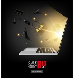 Abstract 2016 Black Friday layout vector image