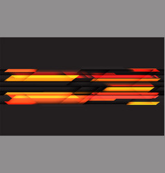 abstract orange light geometric technology vector image