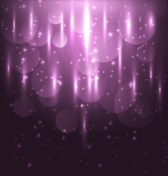 Abstract pink light and bokeh glowing background vector