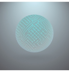Abstract Sphere of Electronic Circuitry vector image