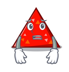 Afraid triangel mascot cartoon style vector