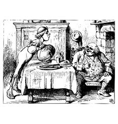 Alice in Wonderland vector image vector image