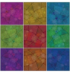 backgrounds mosaic with pattern vector image