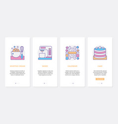 bakery chef tools for cooking desserts ux ui vector image