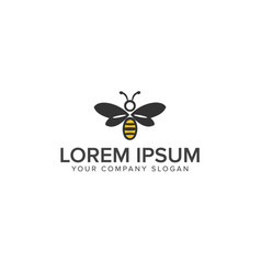 bee logo design template vector image
