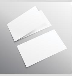 bifold horizontal empty brochure mockup design vector image