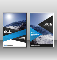 Blue Black annual report Leaflet Brochure flyer vector