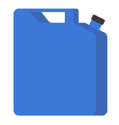 blue jerrycan flat vector image
