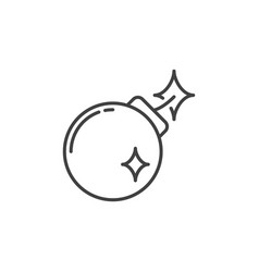 bomb concept minimal icon in outline style vector image