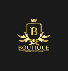 boutique luxury logo design template inspiration vector image