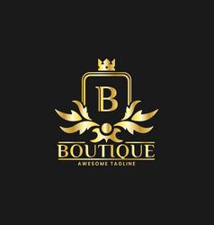 Boutique luxury logo design template inspiration vector