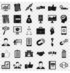 Business academy icons set simple style vector