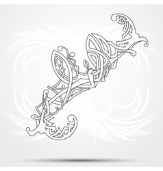 Celtic art-collection on a white background vector