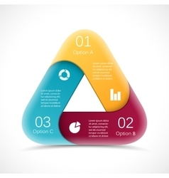 Circle 3D triangle infographic Template vector