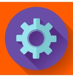 Cogwheel Icon Develop symbol Flat design style vector