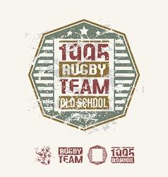 College team rugby retro emblem vector