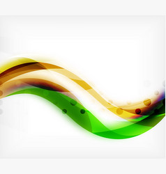 Colorful wavy stripe on white background vector