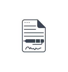 contract related glyph icon vector image
