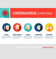 Coronavirus symptoms infographic 2019 ncov vector