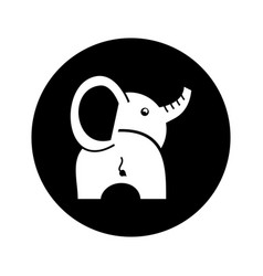 cute baby elephant icon vector image