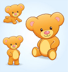 cute cuddly teddy bears vector image