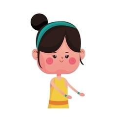 Cute girl cartoon icon vector