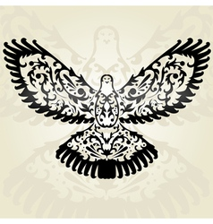 Decorative dove vector