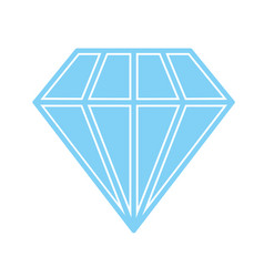 Diamond icon blue vector