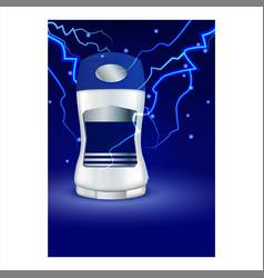 dry stick deodorant for men promo poster vector image