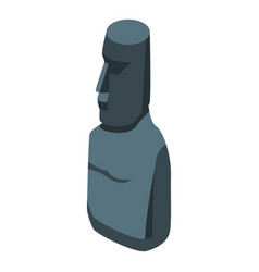Easter island monument icon isometric style vector
