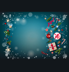 eve blue winter background vector image
