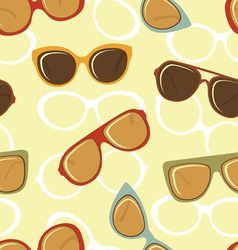 Fashion glasses pattern vector image