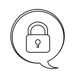 Figure bubbles with lock symbol icon vector