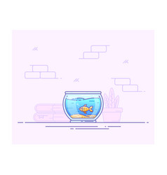 fishbowl icon design vector image