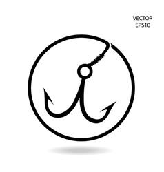 Fishing hook icon vector
