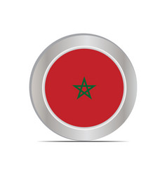 Flag kingdom morocco is isolated vector