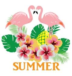 flamingos summer vector image