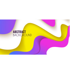 fluid cover bacground abstract shapes composition vector image