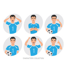 footballer character constructor asian soccer vector image