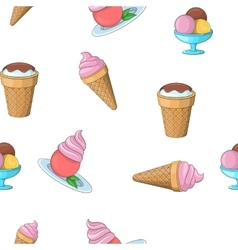 Frozen ice cream pattern cartoon style vector image