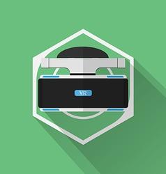 Gaming Gear Flat Icon Virtual Reality vector image