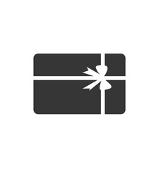 gift box icon design template isolated vector image